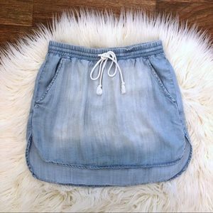 Anthropologie | Cloth & Stone Chambray Skirt